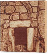 The Door Of Humility At The Church Of The Nativity Bethlehem Wood Print