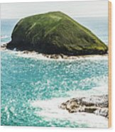 The Doughboys Island Landscape Wood Print