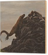 The Dragon And The Ox Wood Print