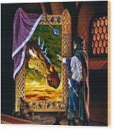 The Dragon Mirror Wood Print