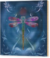 The Dragonfly Effect Wood Print by Bedros Awak