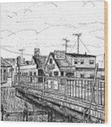 The Drawbridge As Seen From Pjs Wood Print