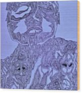 The Dreaming Man Wood Print