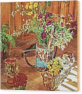 The Dried Flower Shop Wood Print