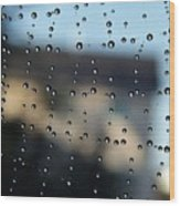 The Droplet Curtain Wood Print