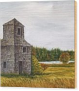 The Drying Barn Wood Print by Norman F Jackson
