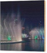 The Dubai Fountain At Burj Khalifa Wood Print