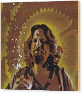 The Dude Wood Print by Tai Taeoalii