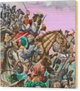 The Duke Of Monmouth At The Battle Of Sedgemoor Wood Print