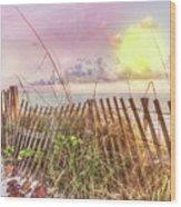The Dunes In Watercolors Wood Print