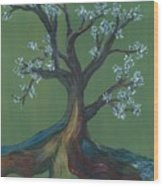 The E Tree Wood Print