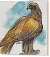 The Eagle Drawing Wood Print