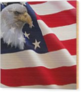 The Eagle Flag Wood Print