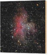 The Eagle Nebula And The Stellar Spire Wood Print