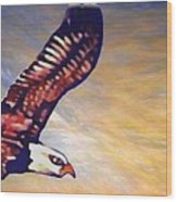 The Eagle Or The Great Thunderbird Spirit In The Sky Wood Print