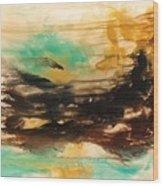 The East Mist Wood Print