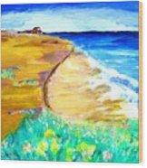 The Edge Of The Sea Wood Print