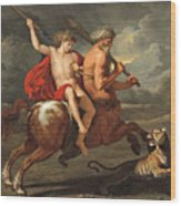 The Education Of Achilles Wood Print