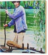 The Eel Catcher Wood Print