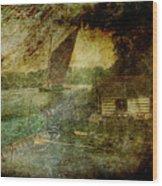 The Eel Fisher's Hut Wood Print
