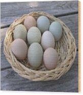 The Eggs Wood Print