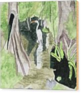 The Egret Wood Print