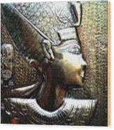 Queen Of Egypt Nefertiti Artwork Wood Print