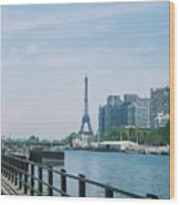 The Eiffel Tower And The Seine River Wood Print