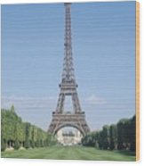 The Eiffel Tower Wood Print by French School