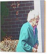 The Elderly Woman Wood Print