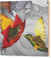 The Electric Hummingbird Wood Print