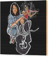 The Electric Violinist Wood Print