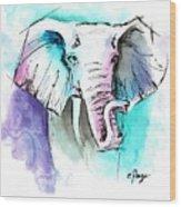 The Elephant King Wood Print