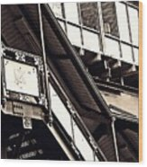 The Elevated Station At 125th Street 2 Wood Print