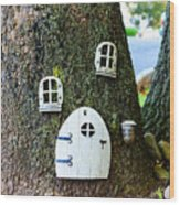 The Elf House Wood Print