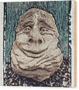 The Elf Wood Print