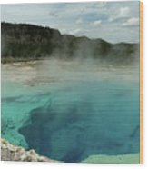 The Emerald Pool Colors Wood Print