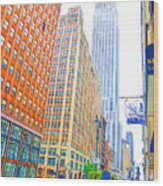The Empire State Building 3 Wood Print