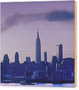 The Empire State Building In New York At 6 A. M. In January Wood Print