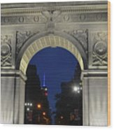 The Empire State Building Through The Washington Square Arch Wood Print