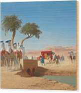 The Empress Eugenie Visiting The Pyramids Wood Print