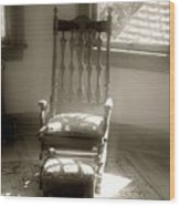 The Empty Chair Wood Print