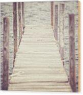 The Empty Dock Wood Print