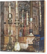 The Empty Tomb Of Christ Wood Print