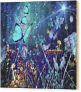 The Enchanted Garden Wood Print