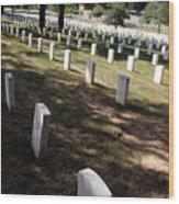 Arlington Tombstones Shade And Light Wood Print