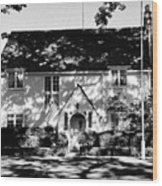 The English Tutor House Wood Print