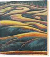 The Enigmatic Hills Wood Print
