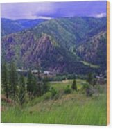 The Entiat Valley  Wood Print