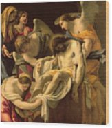 The Entombment Wood Print by Simon Vouet